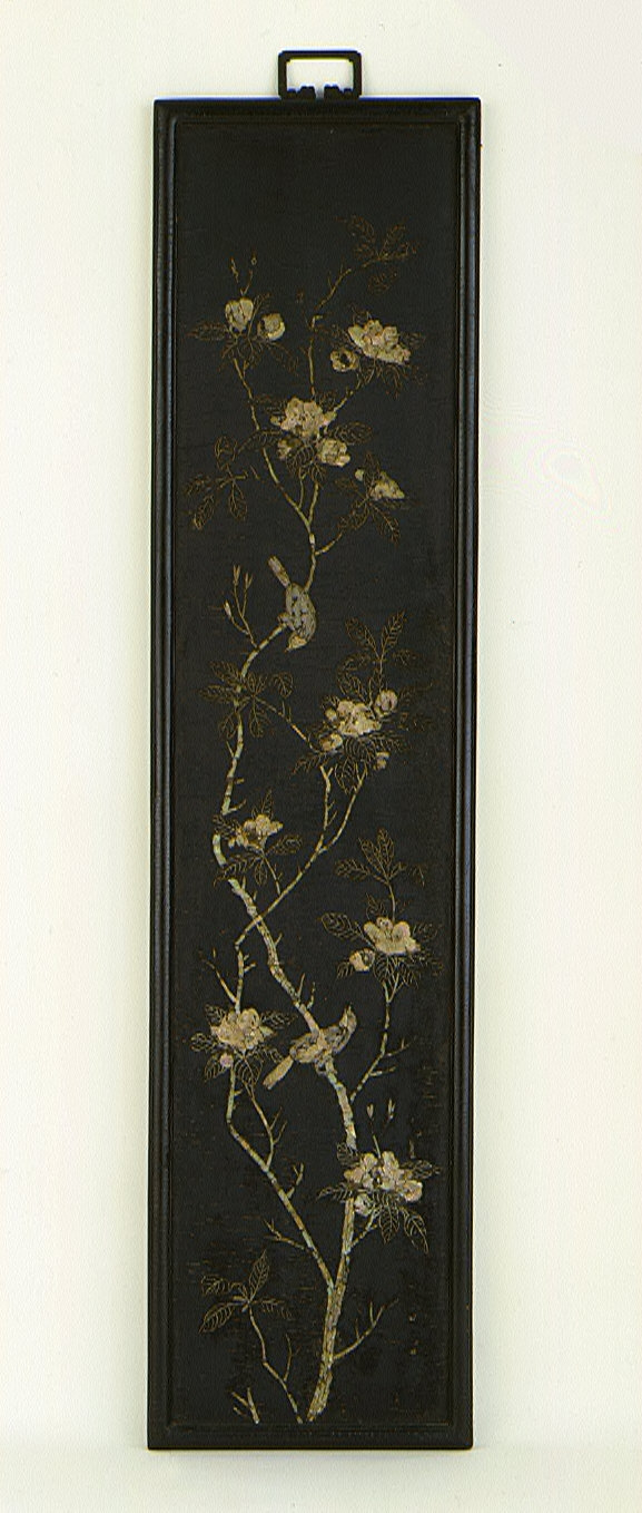 Pair of Panels with Birds and Flowers