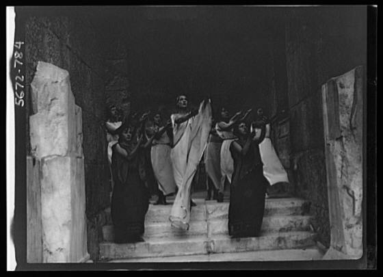 Kanellos dance group at ancient sites in Greece