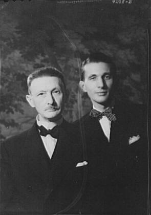 Genthe, Mr., and son Henry, portrait photograph