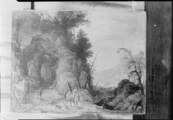 Landscape painting that possibly belonged to Arnold Genthe