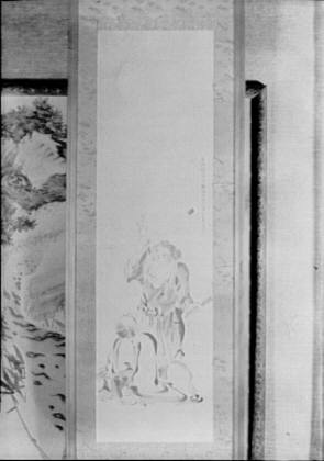 Screen painting that belonged to Arnold Genthe