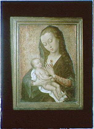 Photograph of a painting of the Madonna and child