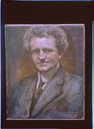 Photograph of a painting of Arnold Genthe