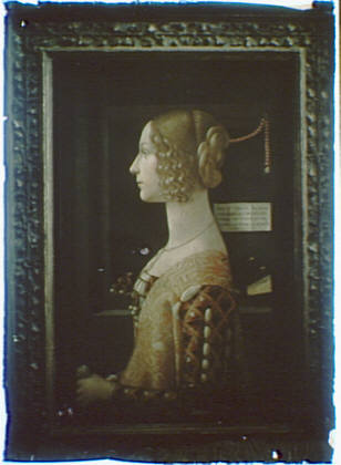 Photograph of a painting of Giovanna Tornabuoni