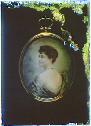 Photograph of a miniature painting of a woman