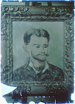Photograph of a painting of a bearded man