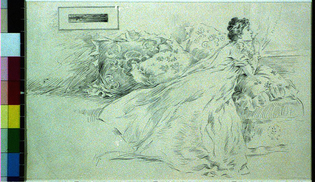 Woman on bed kissing letter